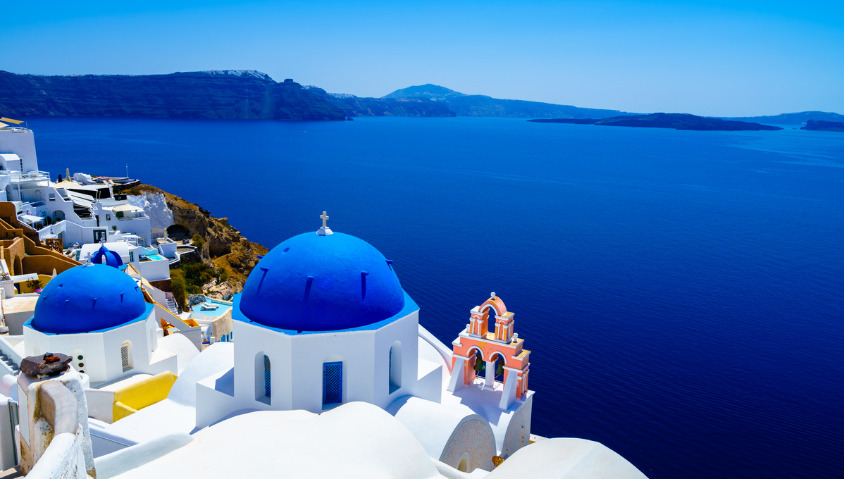 Santorini, a top Mediterranean cruise destination