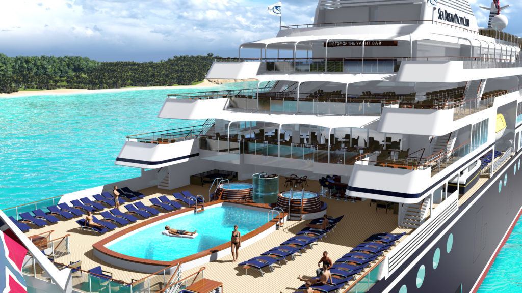 SeaDream Innovation - Pool deck (artist's impression)
