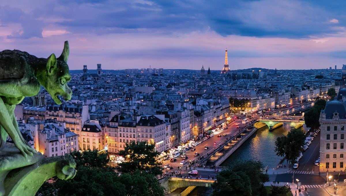 Seine river cruise through Paris
