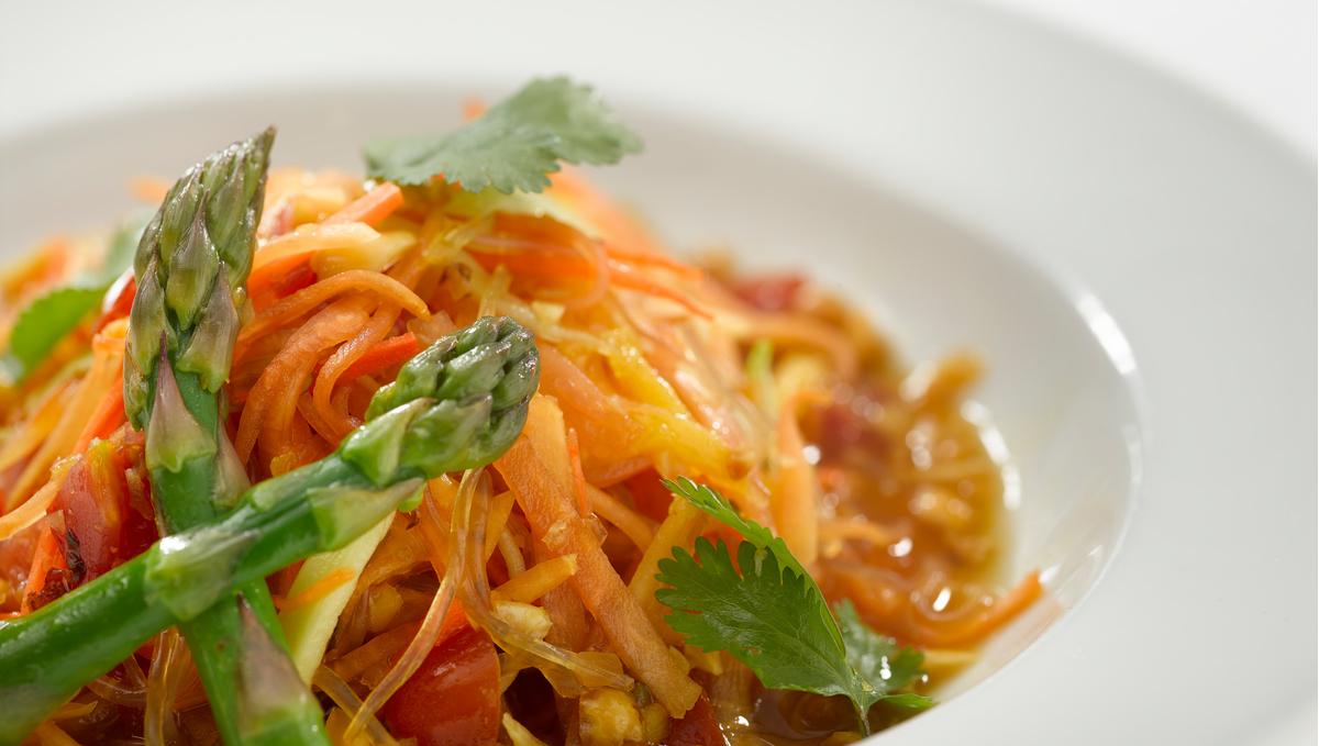 Green papaya kelp noodle salad, part of Oceania Cruises' new vegan-friendly plant-based menu