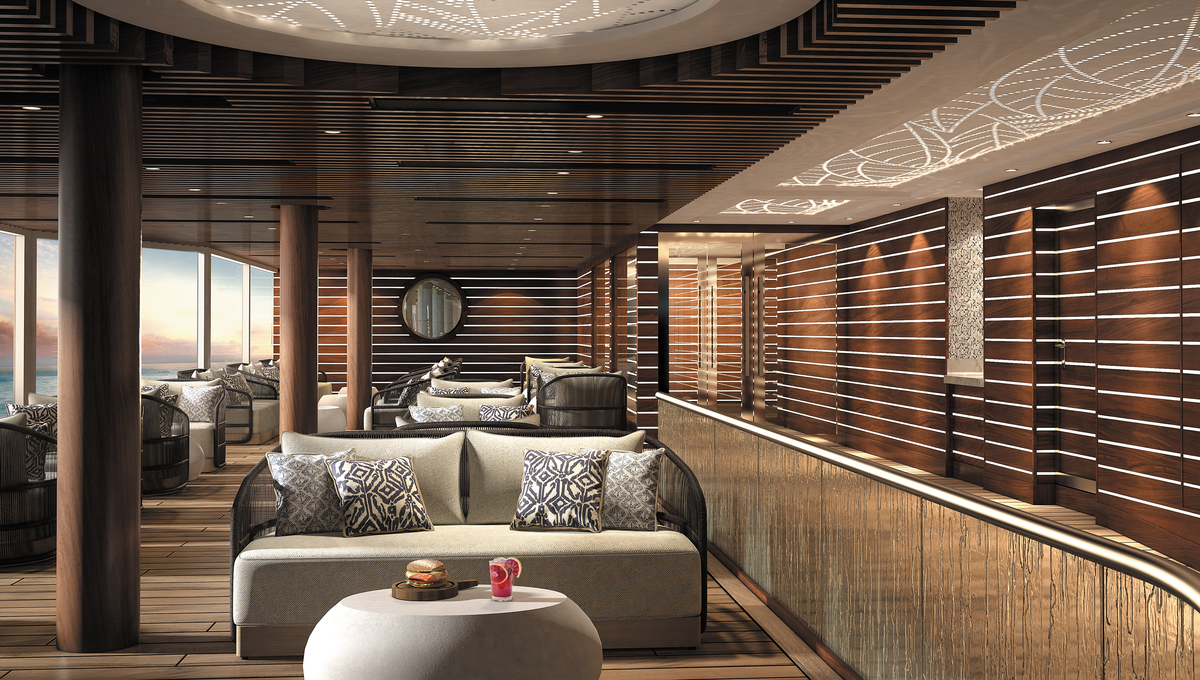 Regent Seven Seas Splendor review - Pool deck grill