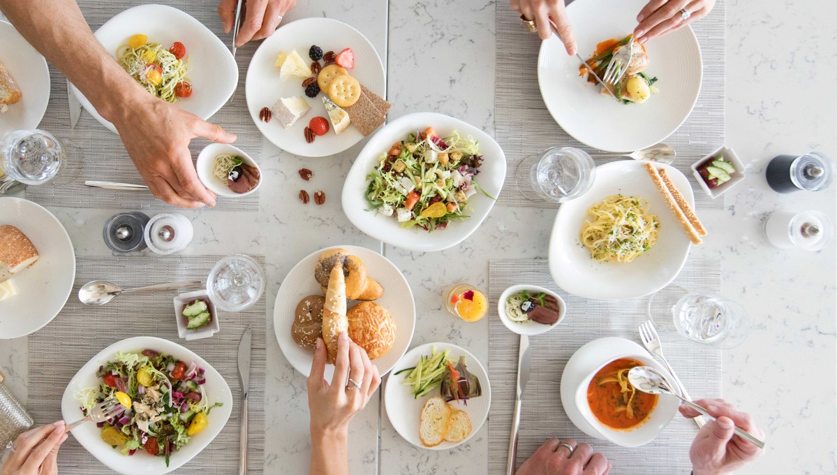 Group dining on Crystal Cruises, one of the best luxury cruise lines for food