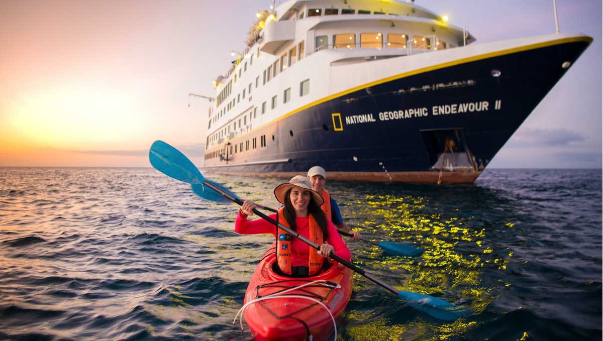 Lindblad Expeditions - National Geographic Endeavour II - Kayaking in the Galapagos