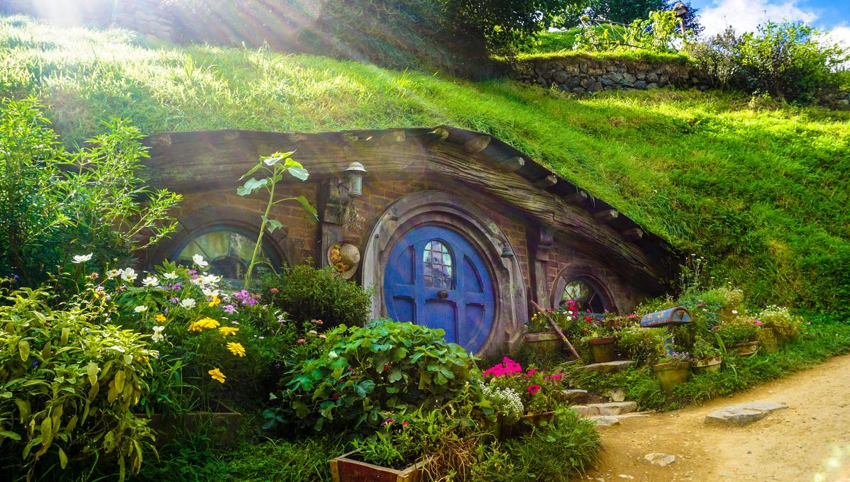 Hobbiton in New Zealand, one of the iconic film locations you can visit on a cruise holiday
