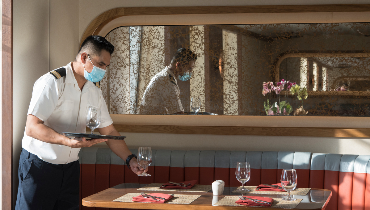 Face masks are one of the measures we can expect to see initially on board as cruise travel resumes in 2021