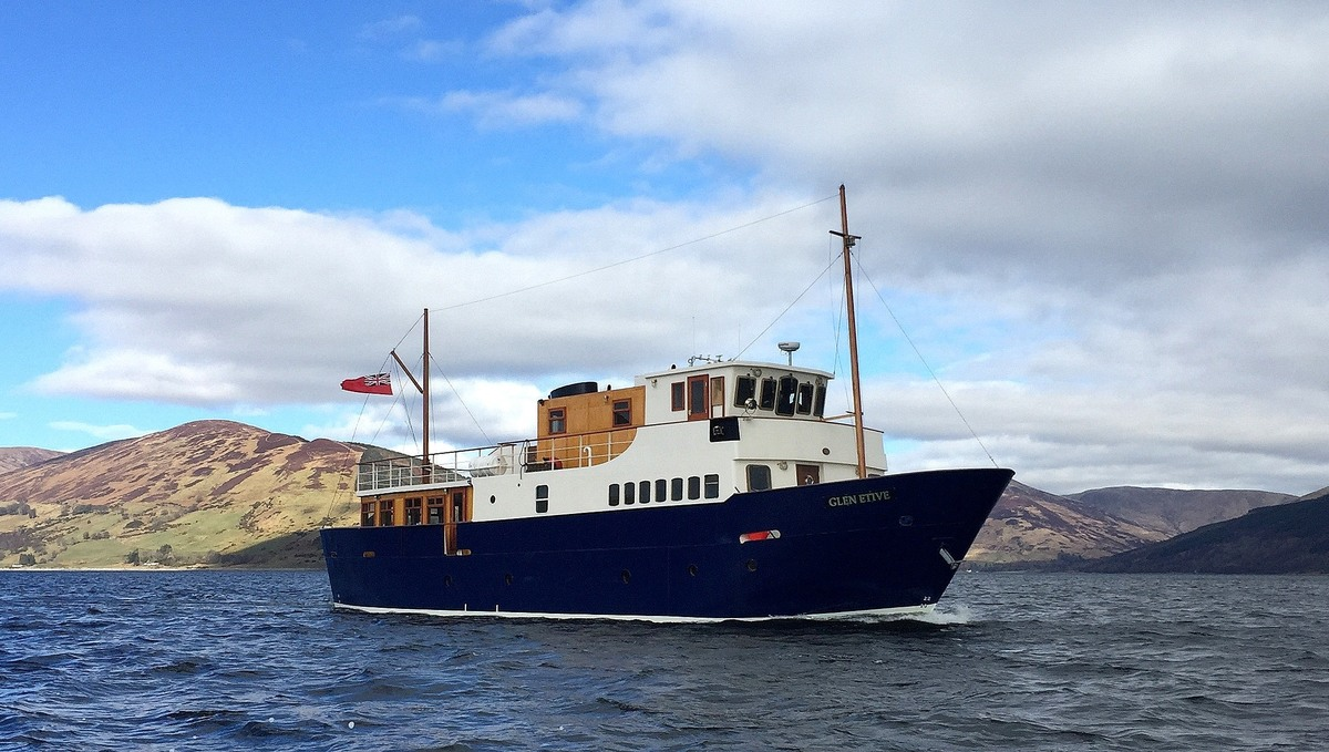 Glen Etive of The Majestic Line, a Scottish small ship cruise line founded by Dr Kenneth Grant