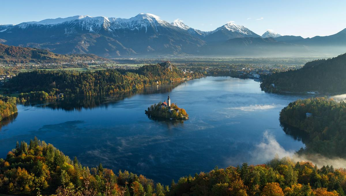 Lake Bled, Slovenia, one of the many lakes you can combine with a river cruise holiday