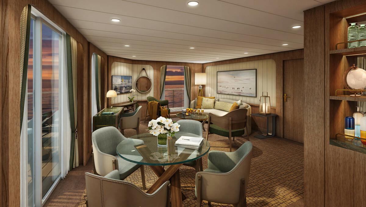 Seabourn Venture - Signature Suite living room