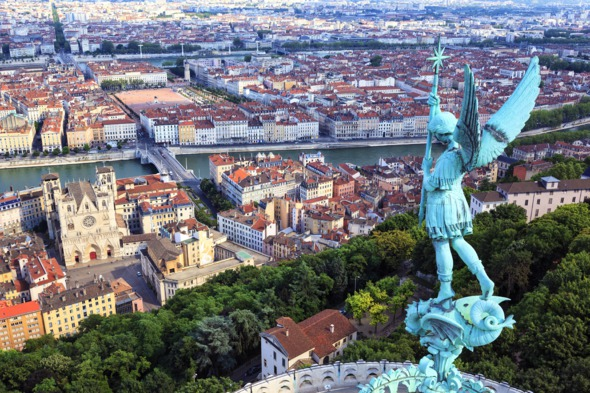 View of Lyon from Notre Dame de Fourviere