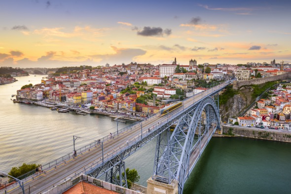 Bridge over the Douro river in Porto, Portugal