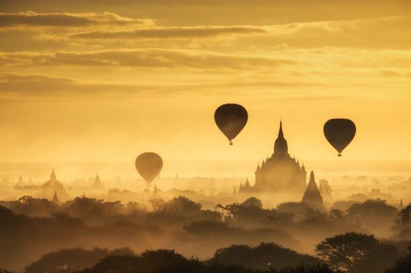 Balloons over Bagan, Myanmar
