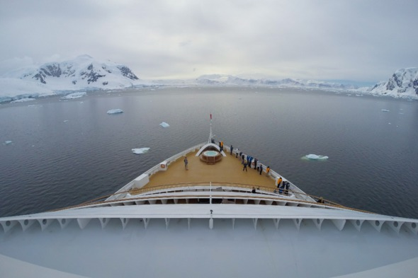 Seabourn Quest in Antarctica