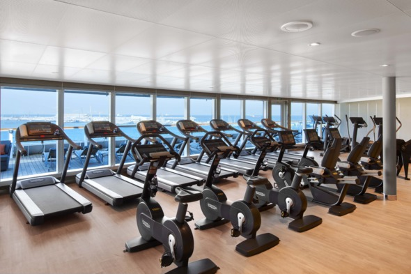 Fitness centre on Seabourn Encore