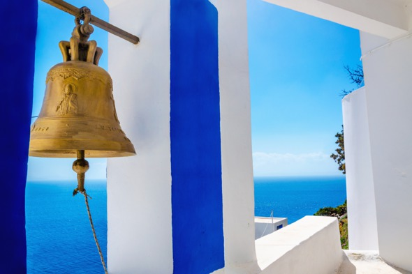 Bell in Kalymnos, Greece
