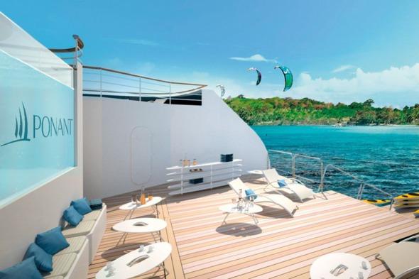 Ponant - Le Champlain & Le Lapérouse - Rear sun deck