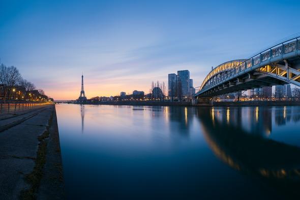 Eiffel Tower and River Seine, Paris