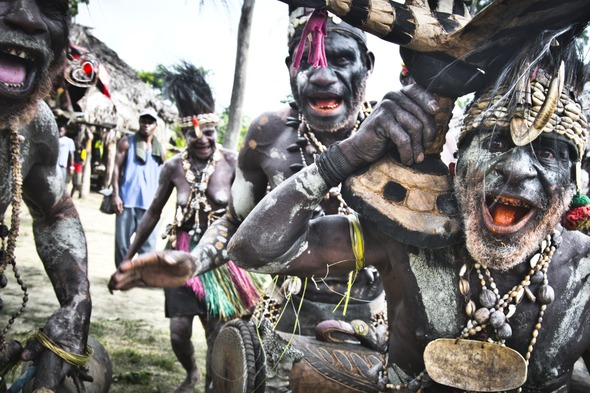 Tribe on the Sepik River, Papua New Guinea
