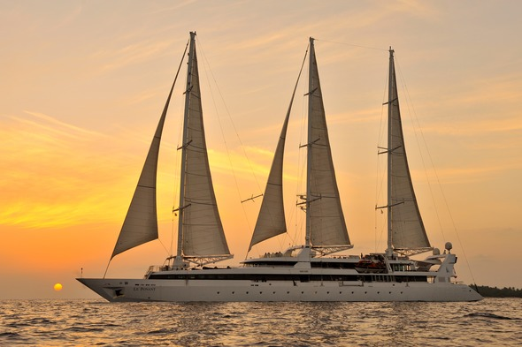 Ponant Cruises - Le Ponant in the Maldives