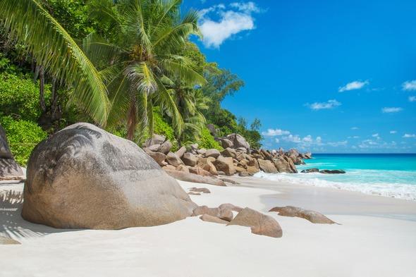 Anse Georgette on Praslin Island, Seychelles