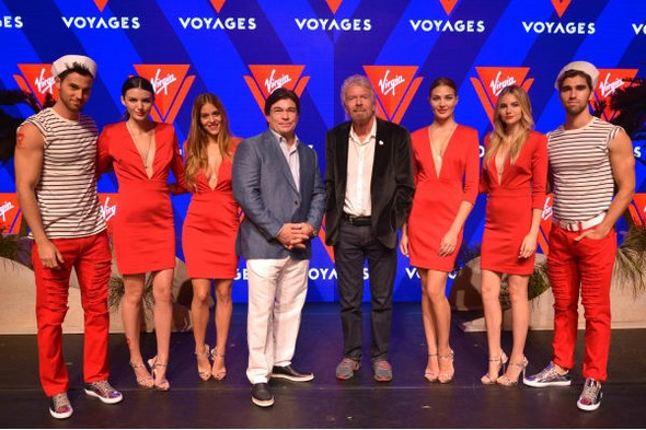 Richard Branson at the launch of Virgin Voyages
