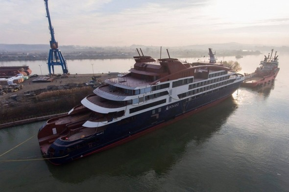 Ponant's Le Lapérouse at the Vard shipyard in Norway