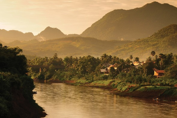 The river Mekong near Laos, Luang Prabang