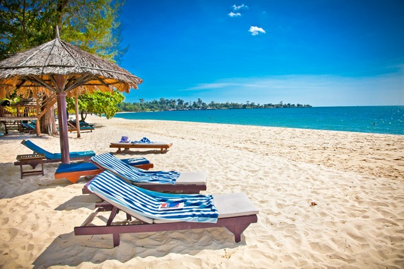 Sokha Beach in Sihanoukville, Cambodia
