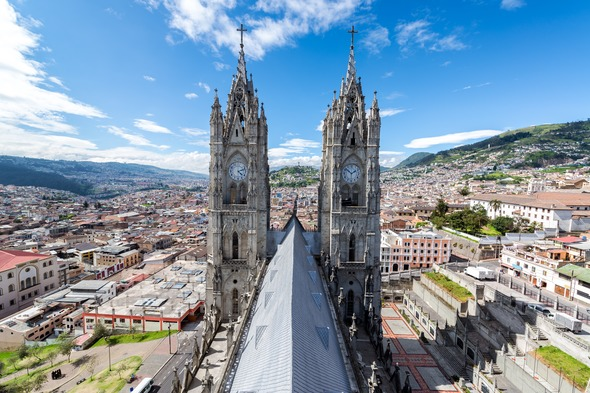 Basilica in Quito, Ecuador