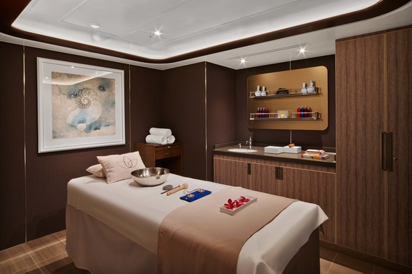 Spa treatment room on Seabourn Encore