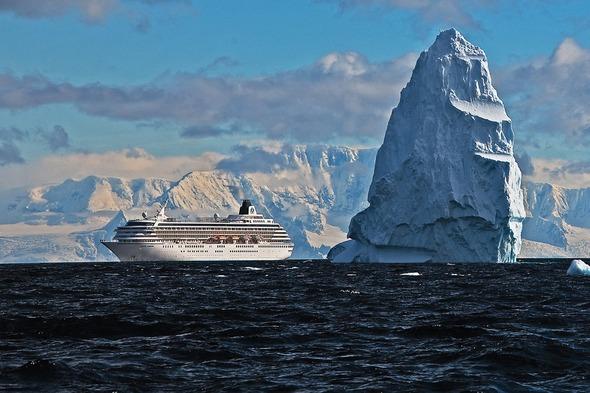 Crystal Symphony in Antarctica