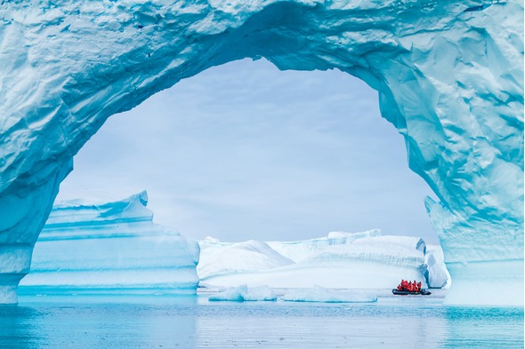 Lindblad Expeditions - Zodiac in Antarctica