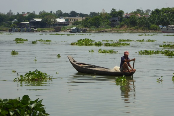 Fisherman in Chau Doc, Vietnam