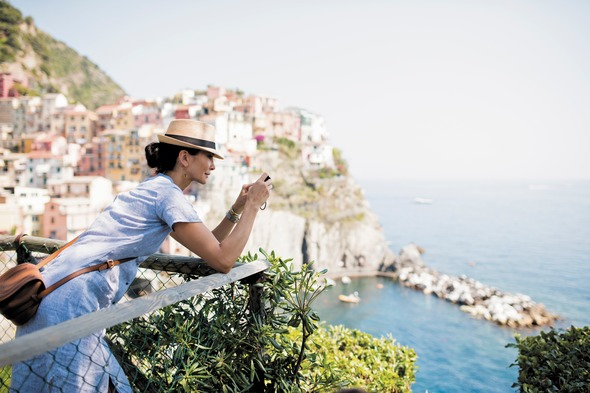 Regent Seven Seas Cruises client in Cinque Terre, Italy
