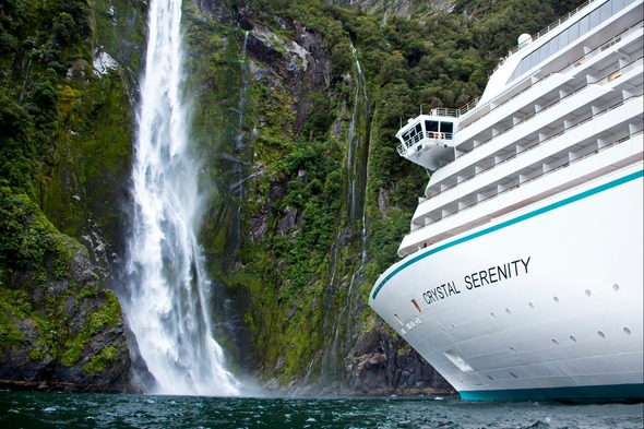 Crystal Serenity in Milford Sound, New Zealand
