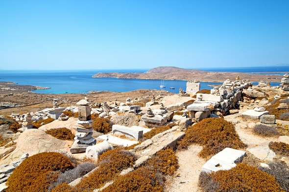 Ruins in Delos, Greece