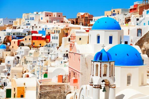 Oia village in Santorini, Greece