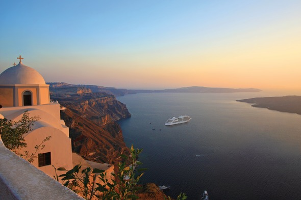 Silversea cruise in Santorini, Greek Islands