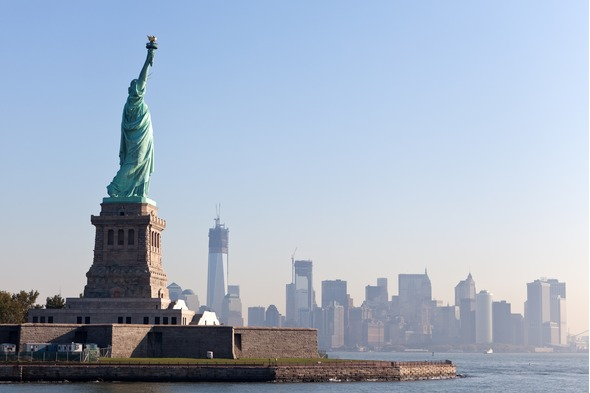 five best sail away ports - Statue of Liberty, New York