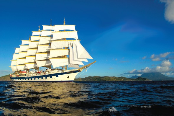 Royal Clipper at sea