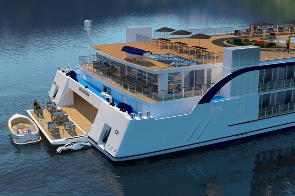 AmaMagna - Watersports platform, Artist's rendering