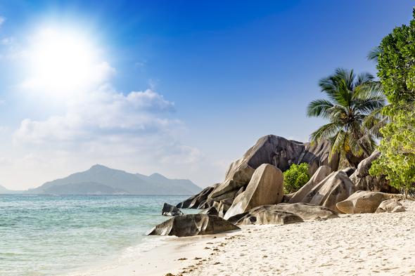 Beach, La Digue, Seychelles