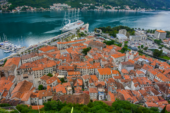 Wind Surf in Kotor, Montenegro