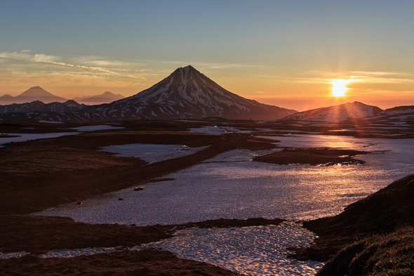Viluchinsky volcano in Kamchatka, Russia