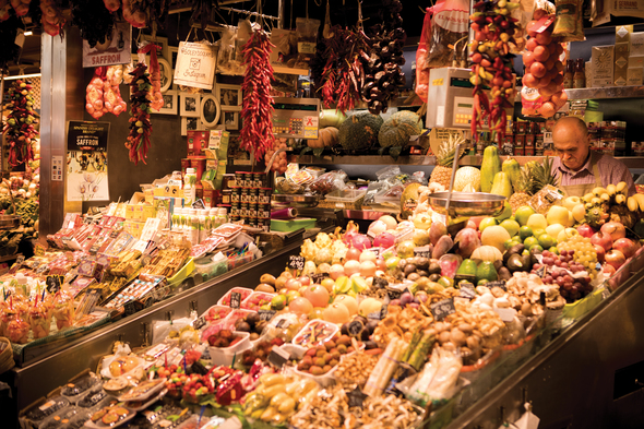 La Boqueria food market in Barcelona