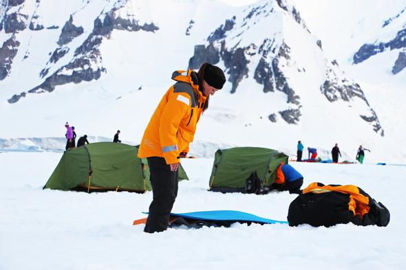 Quark Expeditions - Camping in Antarctica