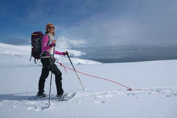 Aurora Expeditions - Snowshoeing in Antarctica