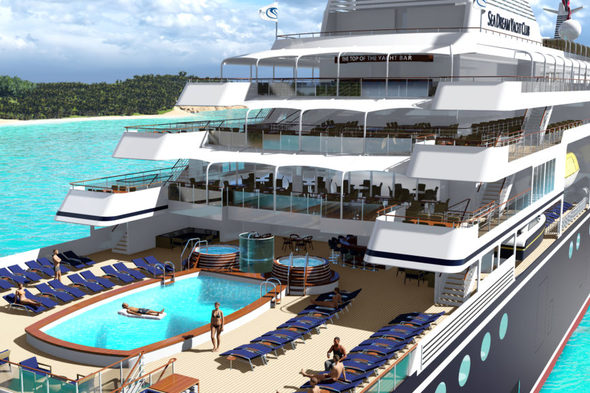 SeaDream Innovation - Pool deck (artist's impression)