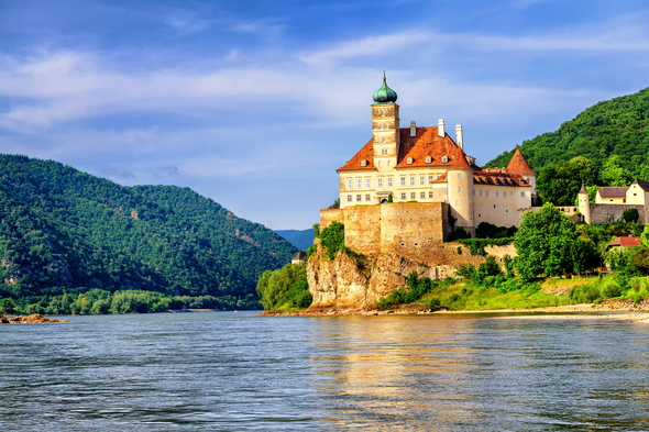 Schobuehel Castle on the Danube, Austria