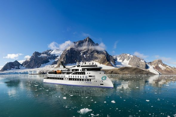 Aurora Expeditions - Greg Mortimer in Antarctica