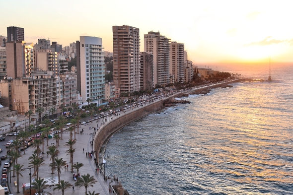 Sunset over Beirut, Lebanon